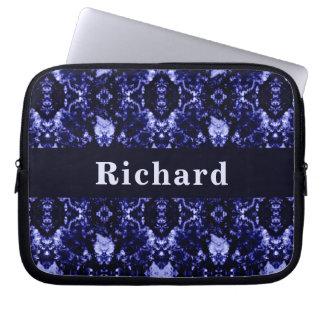 Custom Blue Abstract Pattern Laptop Sleeve