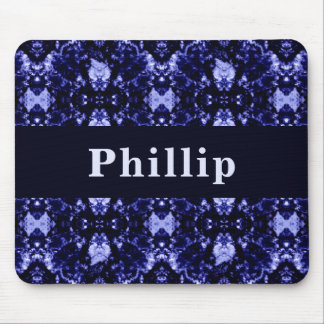 Custom Blue Abstract Pattern Mouse Pad