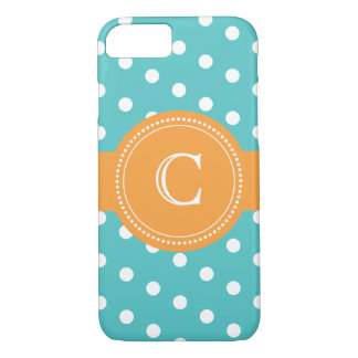Custom Blue and Orange Polka Dot Case