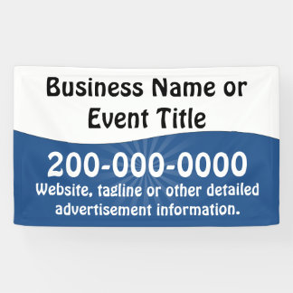 Custom Blue and White Business Advertising