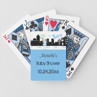 Custom Blue Baby Shower Deck Of Playing Cards