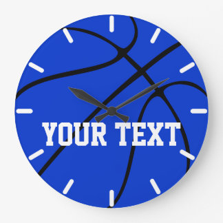 Custom Blue Basketball Wall Clock