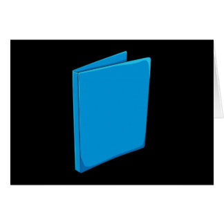 Custom Blue Binder Folder Greeting Playing Cards