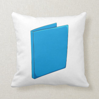 Custom Blue Binder Folder Greeting Playing Cards Throw Pillows