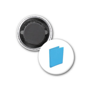 Custom Blue Binder Folder Greeting Playing Cards Magnets