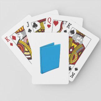 Custom Blue Binder Folder Greeting Playing Cards