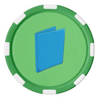 Custom Blue Binder Folder Greeting Playing Cards Poker Chips