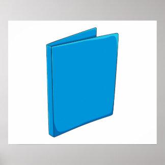Custom Blue Binder Folder Greeting Playing Cards Print