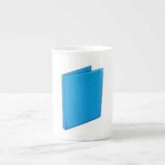 Custom Blue Binder Folder Greeting Playing Cards Porcelain Mug