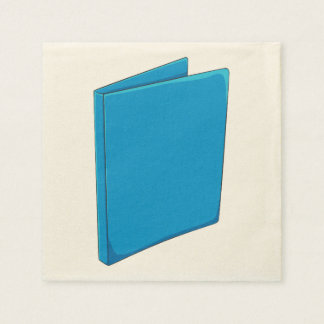 Custom Blue Binder Folder Greeting Playing Cards Disposable Napkin