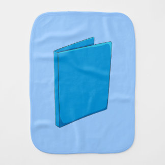Custom Blue Binder Folder Invitation Postage Label Baby Burp Cloths