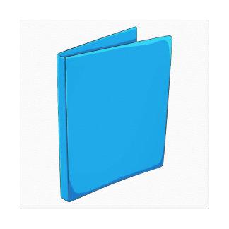 Custom Blue Binder Folder Invitation Postage Label Canvas Prints