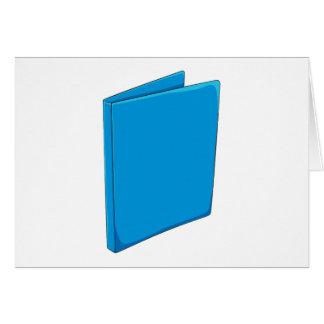 Custom Blue Binder Folder Invitation Postage Label Card