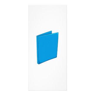 Custom Blue Binder Folder Invitation Postage Label Personalized Rack Card