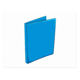 Custom Blue Binder Folder Invitation Postage Label Postcard