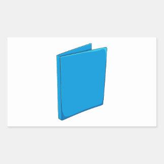 Custom Blue Binder Folder Invitation Postage Label Rectangular Sticker