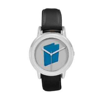 Custom Blue Binder Folder Mugs Hats Buttons Pins Wrist Watch