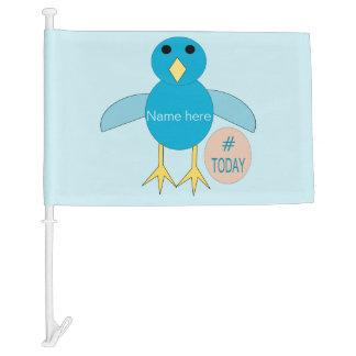 Custom Blue Birthday Boy Chick Car Flag