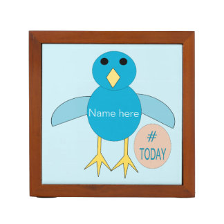 Custom Blue Birthday Boy Chick Desk Tidy Desk Organiser