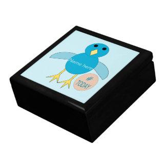 Custom Blue Birthday Boy Chick Gift Box