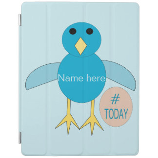 Custom Blue Birthday Boy Chick iPad Cover