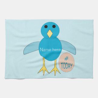Custom Blue Birthday Boy Chick Kitchen Towel