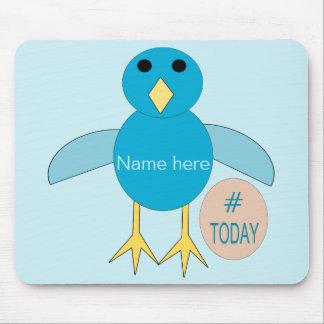 Custom Blue Birthday Boy Chick Mousepad