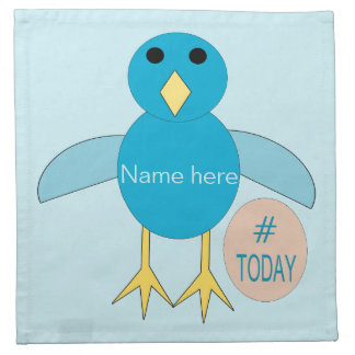 Custom Blue Birthday Boy Chick Napkins