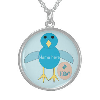 Custom Blue Birthday Boy Chick Necklace