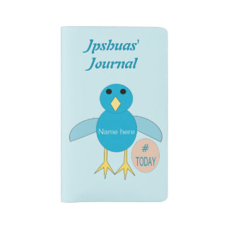 Custom Blue Birthday Boy Chick Notebook cover