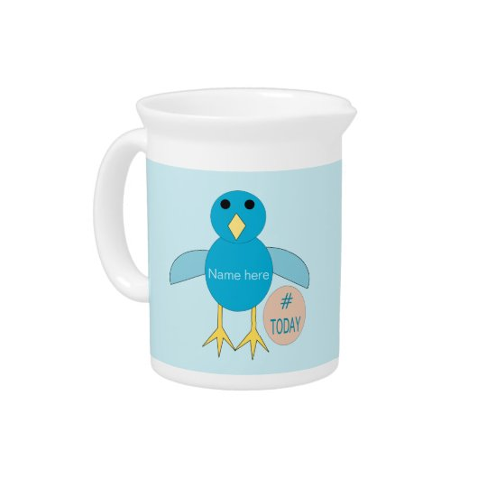 Custom Blue Birthday Boy Chick Pitcher