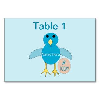 Custom Blue Birthday Boy Chick Tablecard Card