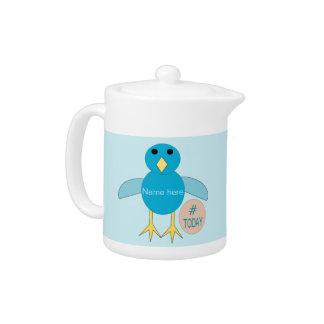 Custom Blue Birthday Boy Chick Teapot
