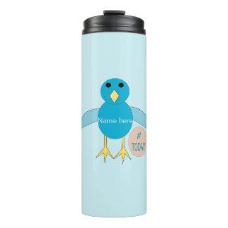 Custom Blue Birthday Boy Chick Thermal Tumbler