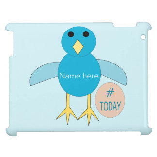 Custom Blue Birthdday Boy Chick iPad Case