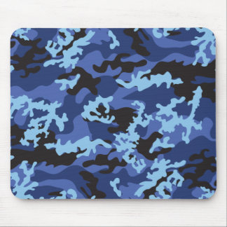 Custom Blue Camo Mousepad