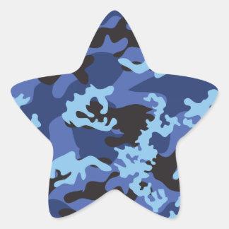 Custom Blue Camo Stickers