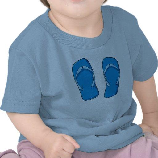 Custom Blue Flip Flops Sandals Kids Shirts Jackets