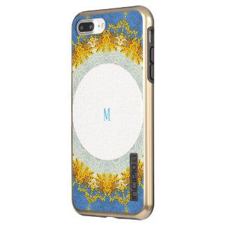 custom blue golden art design incipio DualPro shine iPhone 8 plus/7 plus case