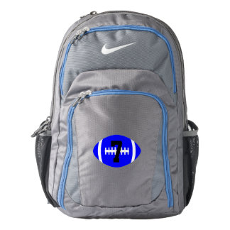 Custom Blue Nike Football Backpack