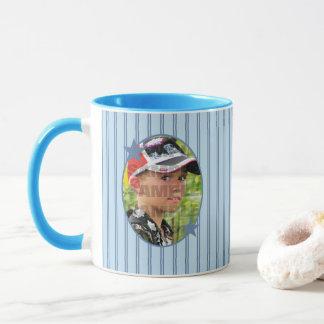 Custom Blue Photo Template Mug