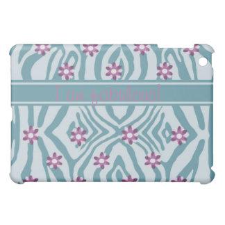 "Custom, blue & purple ipad sleeve ""I am fabulous"" iPad Mini Case"