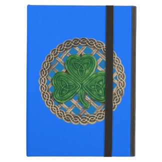 Custom Blue Shamrock Celtic Knots iPad Case