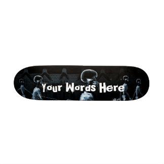 Custom Blue X-Ray Skeletons Midnight Stroll 21.3 Cm Mini Skateboard Deck