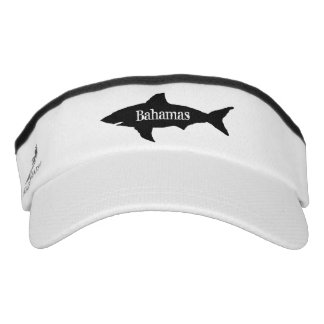 Custom boat captain shark logo sun visor cap hat