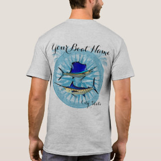 Custom Boat Name Sailfish and Marlin shirt
