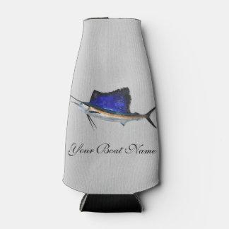 Custom Boat Name Sailfish Bottle Cooler