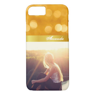 Custom boho bokeh and picture iPhone 8/7 case