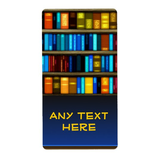 Custom Books In Shelf Bookplate Sticker Labels