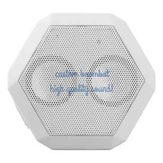 custom boombot rex white white bluetooth speaker